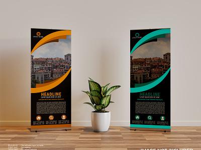 Roll Up Banner web banner flyer roll up banner illustration business logo graphic design design branding vector
