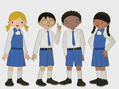 2d Characters In Moho shortfilm art kid girl vector animation design moho cutout 2danimation
