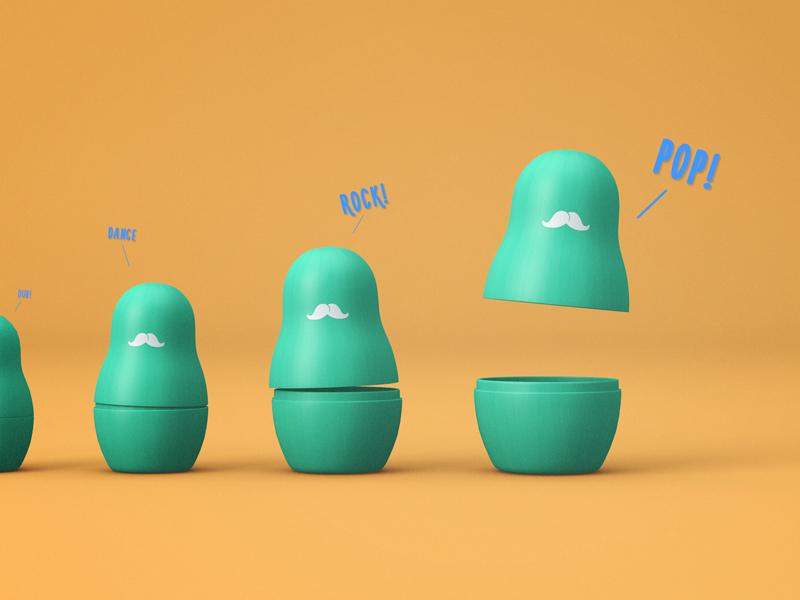 Matrioshka dulls wanna pop! bettereveryday daily art visualart styleframe design 3d c4d dull matrioshka