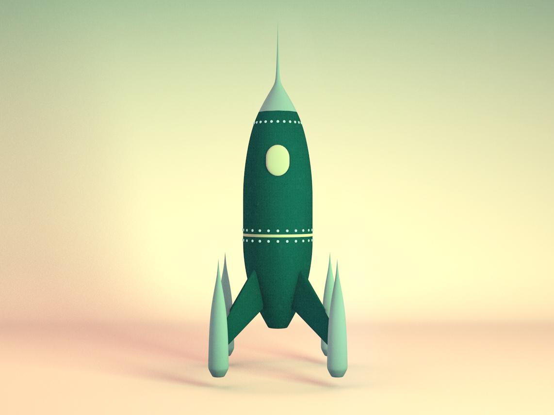 Rocket cinema 4d 3d rocket