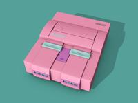 Super Nintendo 3D Modeling