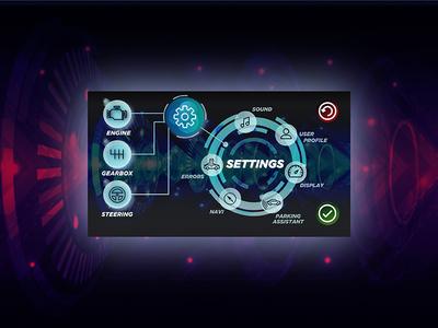 Daily UI #7 settings car dashboard interface daily ui