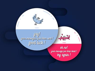 Daily UI #11 logoflow pigeon daily ui flash message
