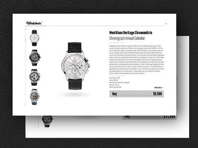 Daily UI #12 logoflow daily ui watch online shop item e-commerce