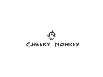 Cheeky Monkey logoflow baby clothes baby clothes logo hand made clothes monkey logo animal logo monkey head cheeky monkey cheeky monkey