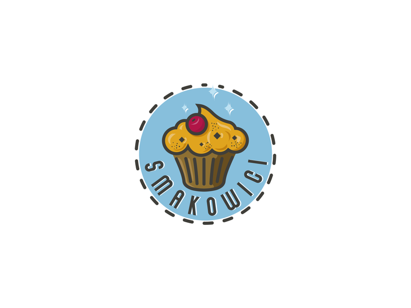 Smakowici confectionary spice sweet logo cake delicious tasty muffin cupcake