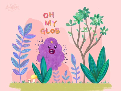 Lumpy Space Princess landscape design frangipani landscape illustration lsp cartoon network adventure time