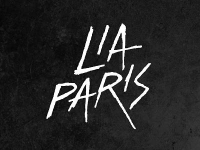 Lia Paris handmade font type logo