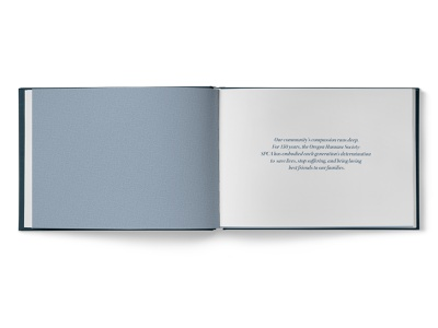 Pioneering Compassion Sample Spread 01 design book design print design