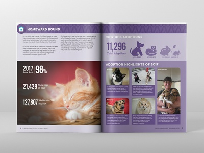 Oregon Humane Society 2017 Annual Report Spread 01 design print design editorial design