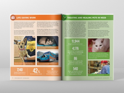 Oregon Humane Society 2017 Annual Report Spread 02 design print design editorial design