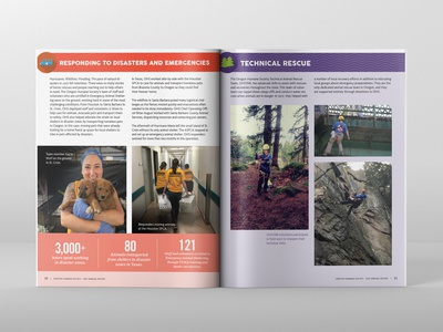 Oregon Humane Society 2017 Annual Report Spread 03 design print design editorial design