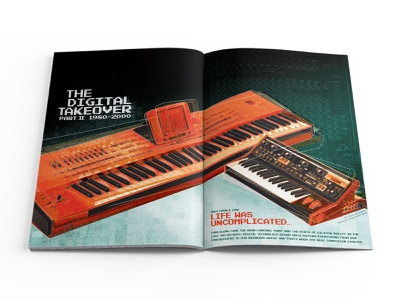 Electronic Musician Magazine Article Spread 01 magazine design design print design editorial design
