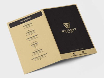 Whiskey Tango Menu 01 typography print design design