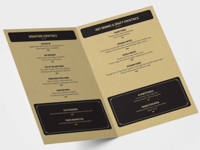 Whiskey Tango Menu 03 typography print design design
