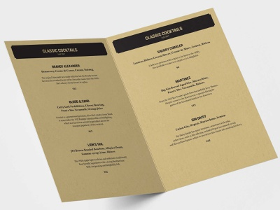 Whiskey Tango Menu 04 typography print design design