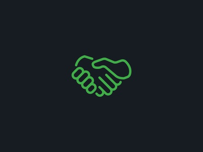 Put'er there, pal. icon hand handshake put er there