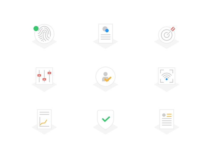 Assurance Icons wip assurance data icons