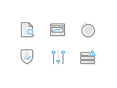 Assurance Icons II risk security controls server compliance it assurance data icons