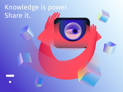 Knowledge is power power skills knowledge eyes illustrator adobe illustrator illustration flat graphic design