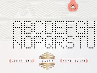 Butcher's Kit dot-matrix mono-type perforated restaurant kit of parts mystic cattle brand