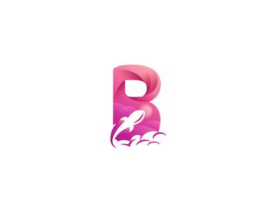 B Rocket Logo