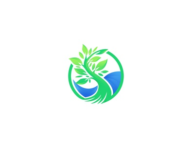 Logo Exploration with tree and sea