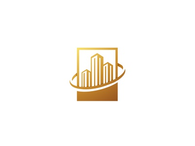 Golden Apartement logo vector modern construction home sign property design building real company corporate estate abstract house apartment icon symbol logo business golden
