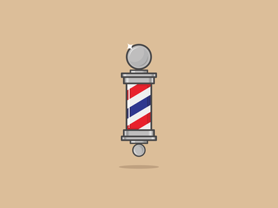 Barbershop Pole blue and white blue red illustration hair stripes icon razor scissors vector beard movember barbershoppole barberpole barbershop barber