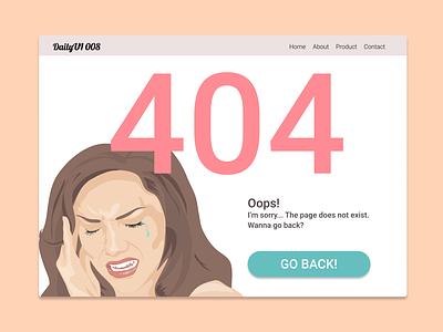 DailyUI 008 404 Page ui 404page 404 dailyui008 dailyui design
