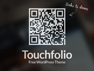 Touchfolio - Free WordPress Theme freebie qr barcode theme gallery site html5 css3 responsive