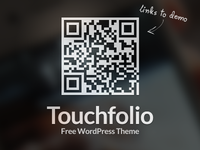 Touchfolio - Free WordPress Theme freebie qr barcode theme gallery site html5 css3 responsive