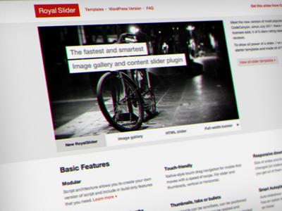New RoyalSlider - Landing Page image gallery landing page slider gallery site layout image content slider