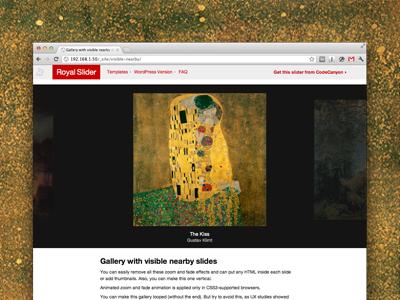 New RoyalSlider - Full-Width Gallery slider web design image gallery site layout