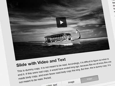 New RoyalSlider - Video with Text Block image gallery video gallery video gallery layout web design