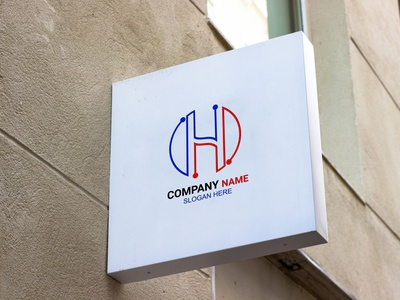 Latter H logo design. logo template logo h logo