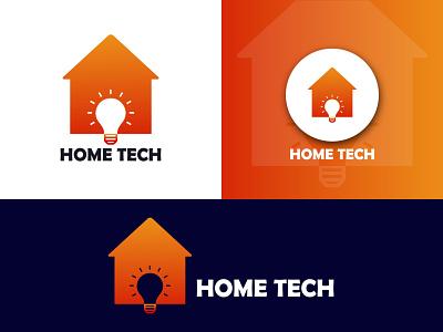 Home & Bulb Logo home logo template bulb home logo
