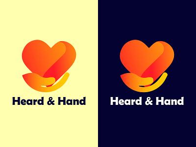 Love heard & hand logo love herd heard love hand logo