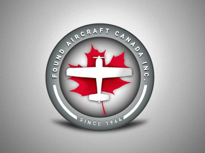 Found Aircraft - logo badge logo plane aircraft canada leaf badge token