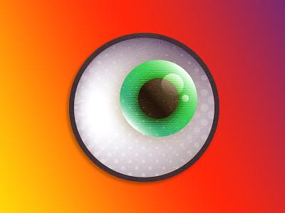 Sticker Mule Rebound - Got my EYE on you colorful stickermule halftone vector eyeball coaster