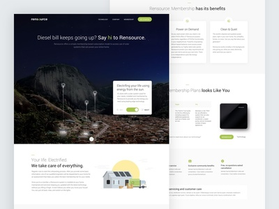 Rensource Website - Electrifing your life