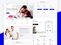 Insurance Startup Landingpage insurance finance landing page landingpage website people modular clean ui user interface
