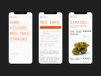 The most widely used illegal drug website concept. Mobile. ui mobile clean minimalist web webdesign uiux ux typography type editorial educaton health minimalistic interface