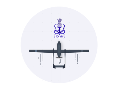 IAI Heron - Squadron Crest for the Indian Navy illustrator navy drone