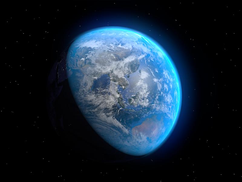 Third Rock earth 3d blender