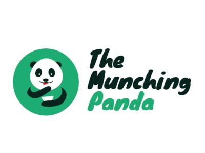 Munching Panda Logo branding vector design logo