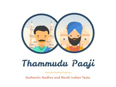 Thammudu Paaji illustration vector branding design logo