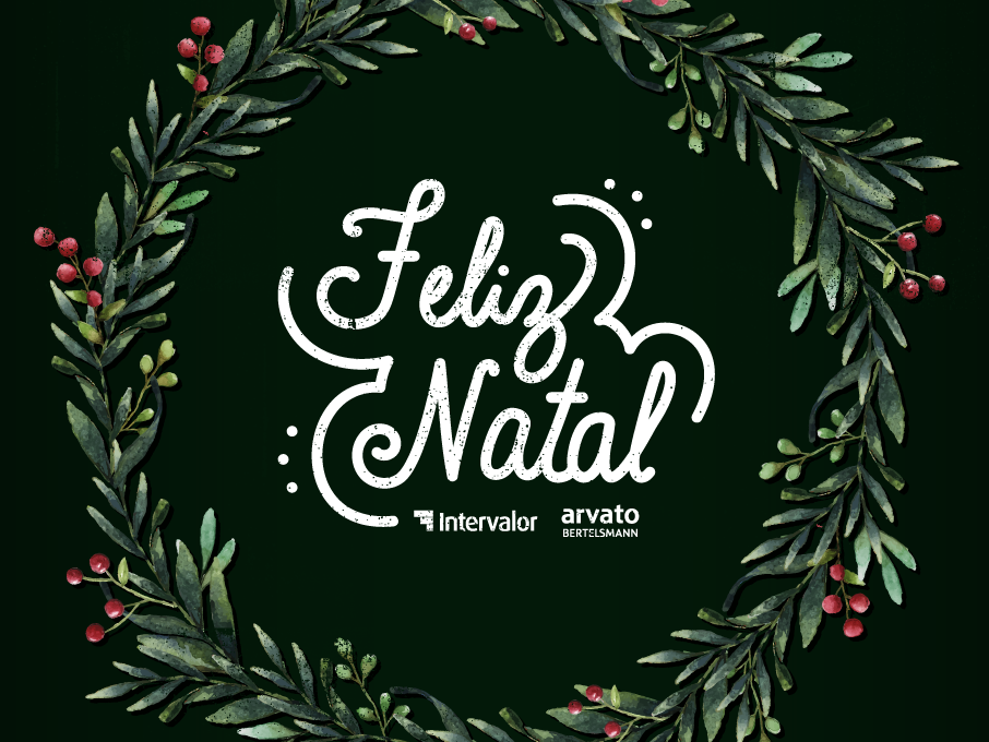 Feliz Natal Intervalor Arvato 2018 bertelsmann arvato intervalor cursive lettering natal xmas christmas typography type