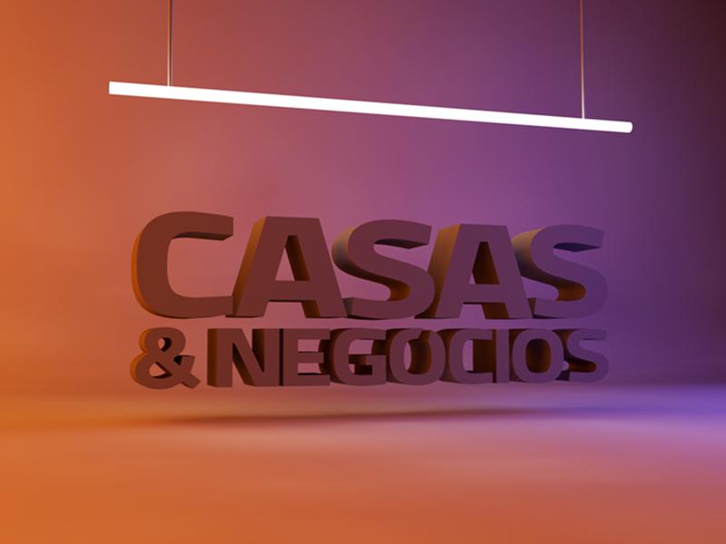Casas & Negócios // CINEMA 4D icon animation minimal vector typography logo design design gráfico logotipo branding