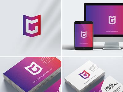 IDENTIDADE VISUAL // MIGUEL GONÇALVES typography logo web illustration design-gráfico vector design gráfico logotipo branding